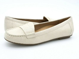 Vionic Womens Chill Larrun Ivory Snake Leather Slip On Flat Moccasin Sho... - $39.99