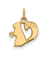 Ss/Gold Plated Sterling Silver With Gp Logoart Alpha Gamma Delta Xs Pend... - $27.21