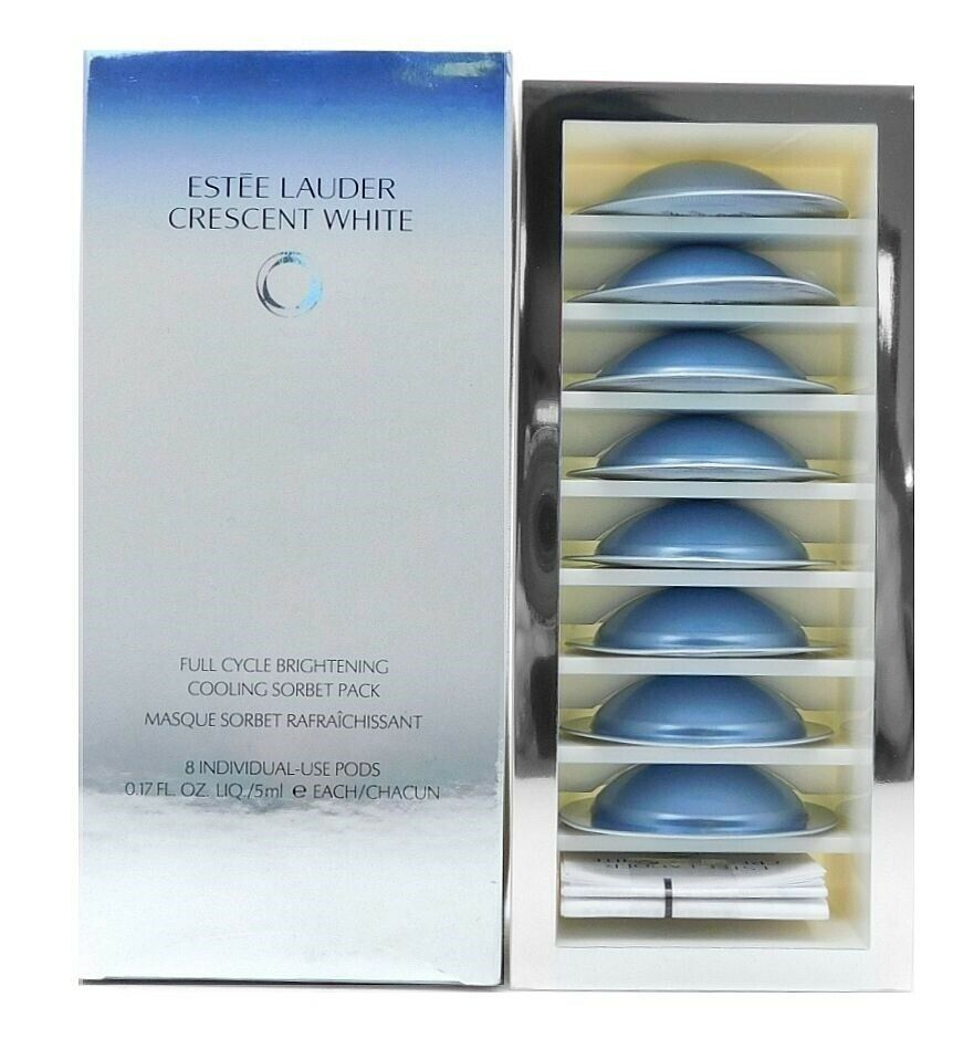 Primary image for Estee Lauder Crescent White Full Cycle Brightening Cooling Sorbet Pack 8 individ