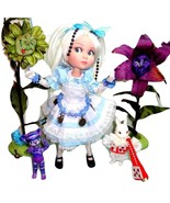 "Tonner Patience Wonderland Alice 14"" Doll +2 OOAK BJDs Cheshire Cat White Rabbit - $410.35"