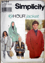 Simplicity Pattern 9744. Misses Szs XS S M Unlined Jacket with or Withou... - $12.00