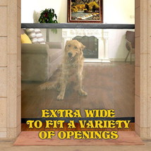 Magic Extra Wide Pet Safety Gate Portable Anywhere Folding Higher Qualit... - $24.80