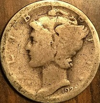 1924? UNITED STATES SILVER 10 CENTS MERCURY SILVER DIME COIN - $3.53