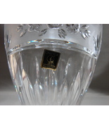 """Southern Garden"" 24% Lead Crystal Oval Vase by Oneida German Made - $7.99"