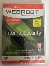 WEBROOT SECUREANYWHERE INTERNET SECURITY 2006-2017 - $14.56