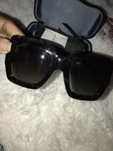 Gucci Havana Glitter PINK/BROWN Shaded Women Authentic Sunglasses - $257.13