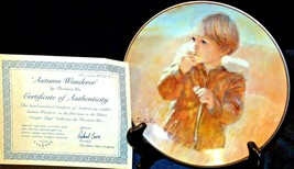 """Autumn Wanderer"" by Thornton Utz Plate with Viletta Box USA AA20-CP2230 Vintage image 2"