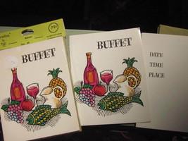 REYTON REYTONETTES BUFFET PARTY INVITATIONS Mid Century VINTAGE LOT of 20 - $9.49