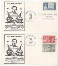 2 Buffalo NY Plewacki Post Stamp Society 1961 Civil War Centennial Covers! - $1.25