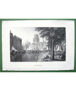 HOLLAND Rotterdam - CPT BATTY Antique Print Engraving - $26.01