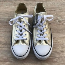 Converse Womens Low-Top Casual Fashion Sneakers 153181F Metallic Gold Sz 10 - $59.39