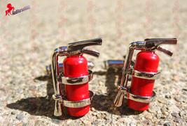 Fire Extinguisher Cufflinks – Wedding, Father's Day, Graduation, Birthday Gift - $3.95