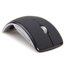 Mouse Foldable Wireless Mouse 2.4 Ghz Computer Optical Mice USB Receiver... - $12.62