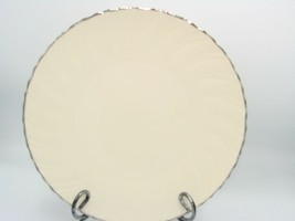 New WEATHERLY by LENOX Dinner Plate 10 1/2 in  Ivory, Swirled, Platinum ... - $18.47