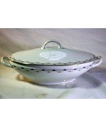 Royal Bayreuth Antique Circa 1912 Pink Floral Swags Oval Covered Cassero... - $37.79