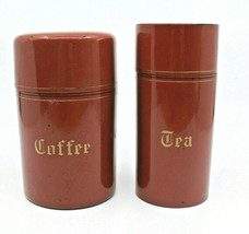Japanese Lacquerware Coffee Tea Canister Storage Set Made in Japan AS-I... - $44.16