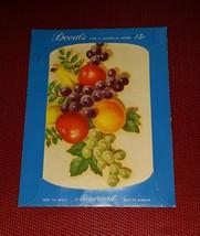 Vintage MEYERCORD DECAL 840-E FRUIT BANANAS GRAPES APPLES ORANGE LEAVES - $6.26