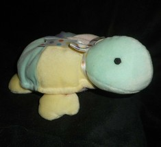 "9"" FIRST & MAIN BABE E TURTLE BABY PASTEL CHIME RATTLE STUFFED ANIMAL PL... - $23.38"
