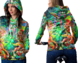 Psychedelic magic face trippy tongue drug dmt hoodie women thumb155 crop