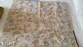 """40X36"""" HAND CRAFTED VINTAGE PATCHWORK QUILT, RUSTIC DISNEY POOH BACKING,... - $19.79"""