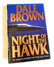 An item in the Books category: Night of the Hawk by Dale Brown - Hardcover - Like New