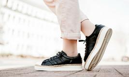 Adidas Damen Original Superstar 80s Neu Bold Schuhe Core Schwarz/Weiß Sn... - $142.57