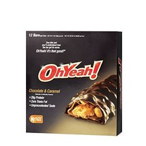 ISS OhYeah PrePost Workout Bars - Chocolate and Caramel 12 Bars - $42.13