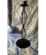 Metal designed Candlestick Holder Black Color - $5.00