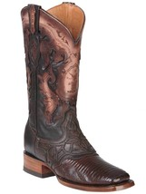Western Boot Old Mejico Exotic Lizard Teju Cigar ID 301076 - €275,77 EUR