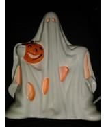 Halloween Vintage Ceramic Lighted Ghost PACIFIC RIM # 74901 WORKS! - $34.60