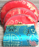 Chinese Silk Make up bag set of 3 and Coin Purse - $18.00