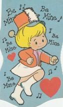 Vintage Valentine Card Majorette Girl Be Mine 1970's Unused - $5.93
