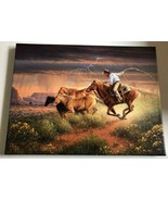 Jack Terry Hot Pursuit Canvas Print Brand New Already Stretched Cowboy A... - $79.20