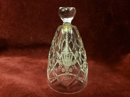 "Waterford 1984 Holly Lamp Twelve Days of Christmas Crystal Bell 4"" No Box - $33.65"