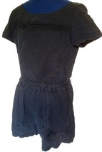 Ann Taylor Loft 100% Linen Romper Size 2 Navy Blue Belted Shorts Jumpsui... - $28.87