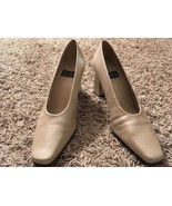 "Womens Nine West Elizabeth Champagne 3"" Heel Leather Upper Shoes, Sz 7M - $27.99"