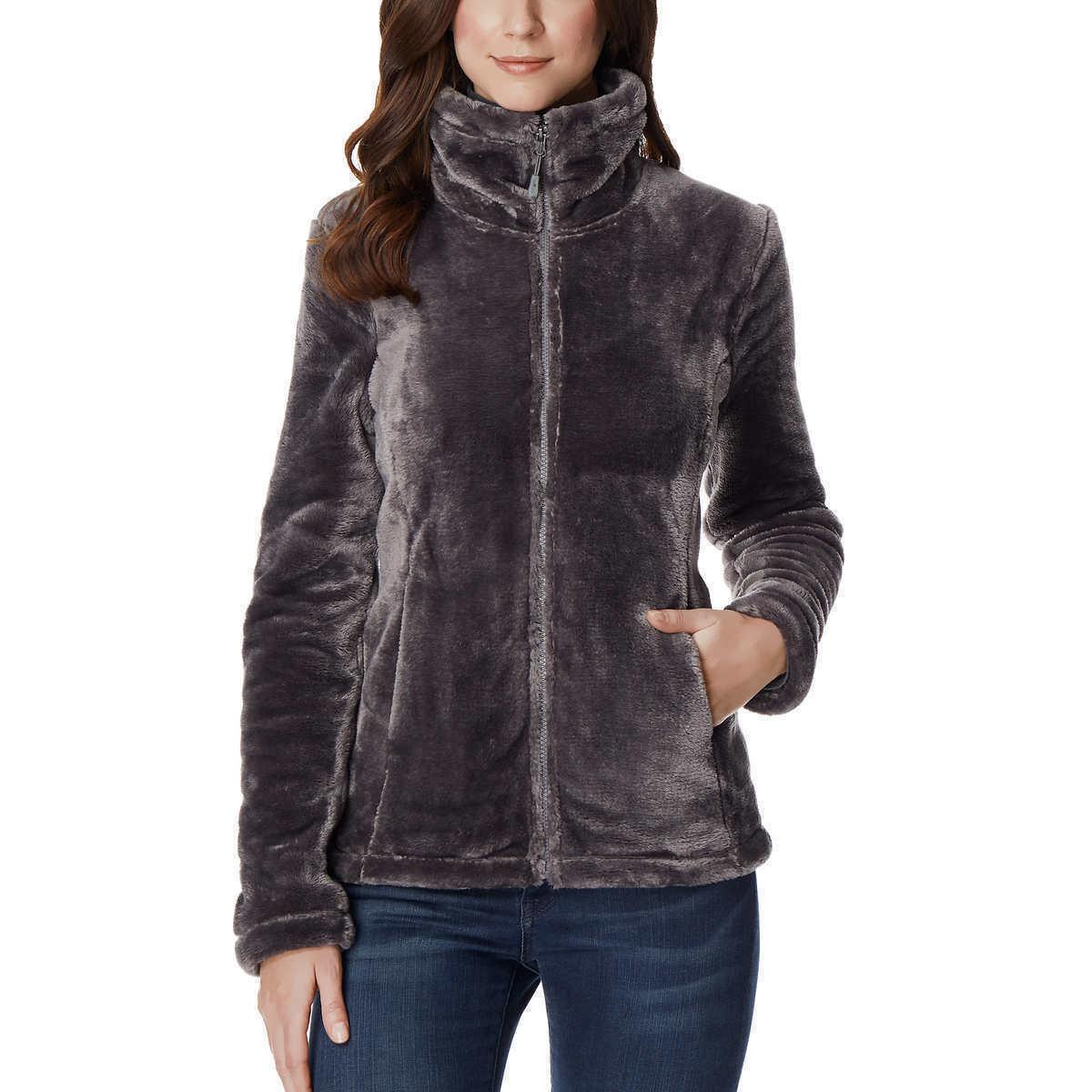 32 Degrees Ladies' Shadow Gray Soft Plush Heat Faux Fur Jacket size M Medium