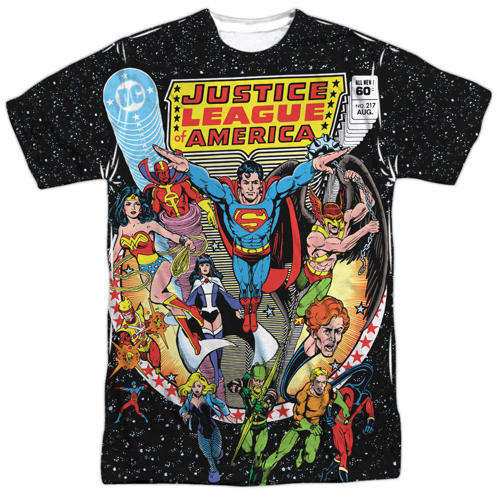 Primary image for DC Comic JLA Justice League of America Stars Issue 217 Sublimation Front T-shirt