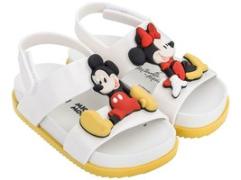 NWT MINI MELISSA Cosmic Sandal + Disney Twin Slipper Slip On Comfort Whi... - $56.00