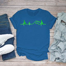 Swimming Funny Tee Cool Heartbeat Pulse Frequency Swim Unisex - $15.99+