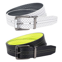 Nike Perf Reversible Contrast Golf Belt, Black/ Volt Yellow, White/ Gray - $49.50