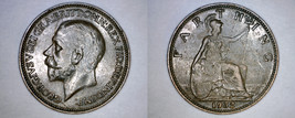 1932 Great Britain 1 Farthing World Coin - UK - England - $14.99