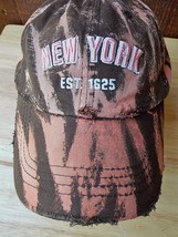New York Apocalyptic Custom Destroyed Distressed Ripped Sun Dyed Basebal... - $15.84