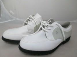 FootJoy Women's GreenJoys Golf Shoe Size 10 M White Tan Leather 48704 - $19.99