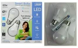 Feit Electric Smart Wi-Fi LED Dimmable 60W Light Bulbs 2 PK NEW OPEN/DAM... - $11.57