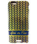 Girl On Fire Mary Square Ashley 2Piece iPhone 6 Tough Case Gold Herringb... - $8.79