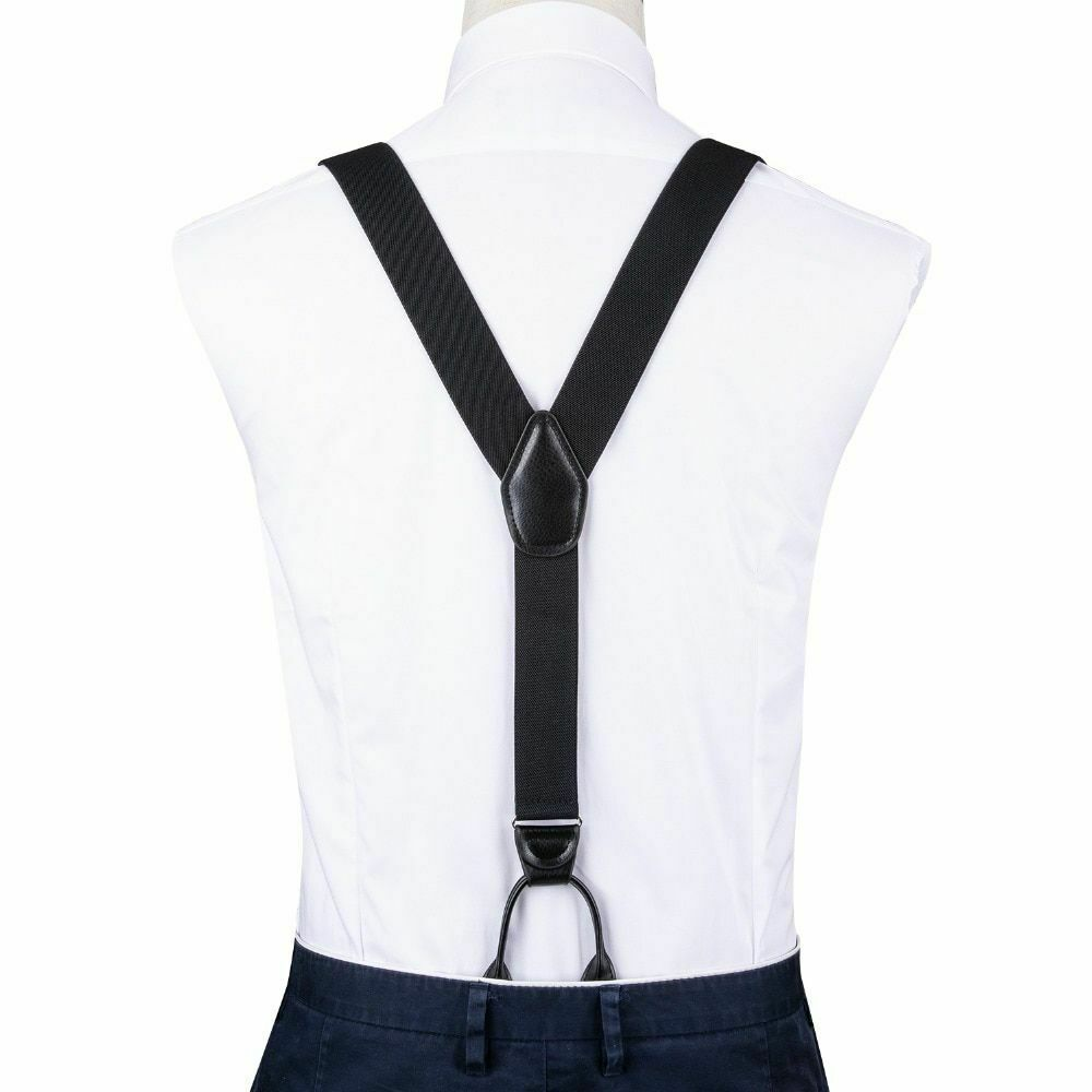 Men Casual Suspender Solid Pattern High Quality Adjustable Six Buttons Belt image 3