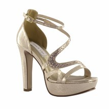 Breeze by Touch Ups Champagne Gold Platform Heel Bridal Bridesmaid Prom ... - $1.176,82 MXN