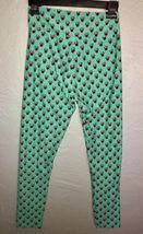 LuLaRoe Disney Minnie Mouse Green Leggings Women's OS One Size (2-10) NEW.  N8 image 3