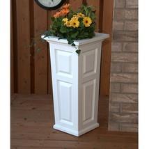 """Garden Flower Planter Porch Deck 32"""" Tall White Self Watering Flower Dec... - $143.52 CAD"""